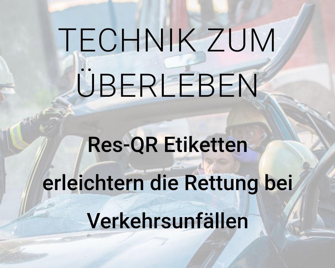 ResQR Code Rettungs QR Code fürs Auto (Digitale Rettungskarte für Rettungskräfte)