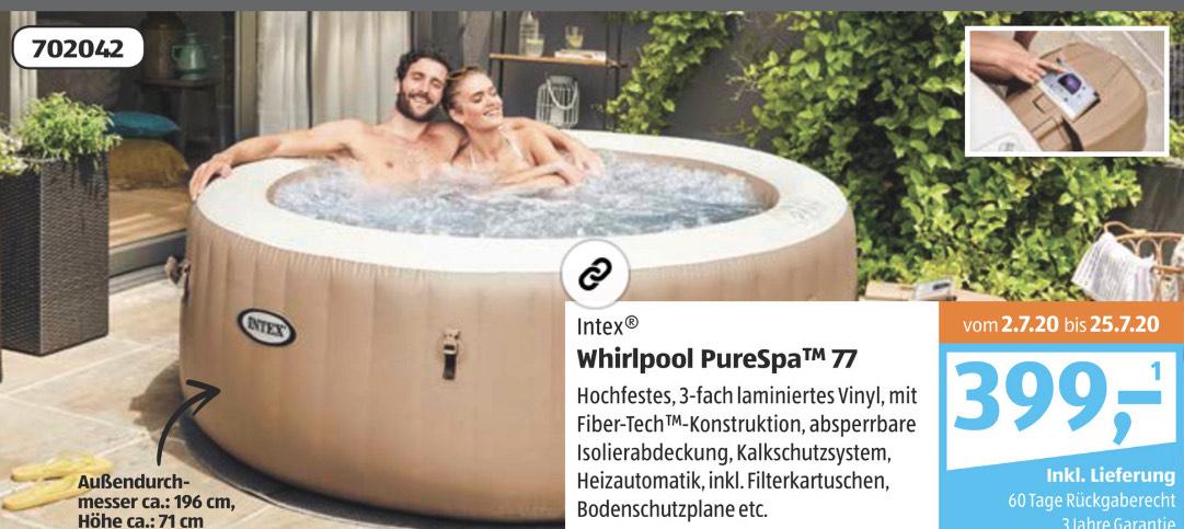 Aldi Süd: INTEX Whirlpool Pure Spa 77