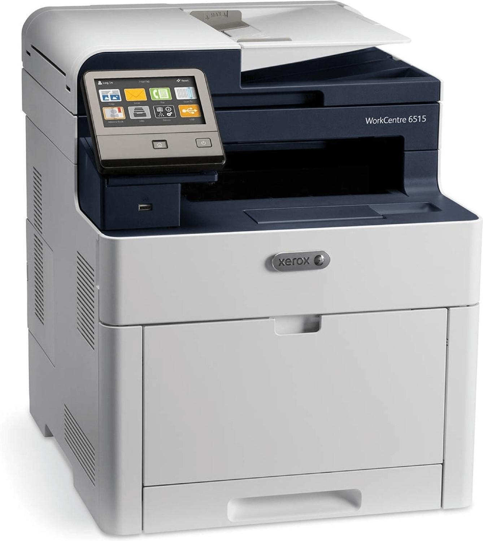 4-in-1-Farblaser Xerox WorkCentre 6515DNI (A4, 28 S/min, 300 Blatt, Duplexdruck & Dual-ADF, Touchscreen, LAN, WLAN, NFC, mobiles Drucken)