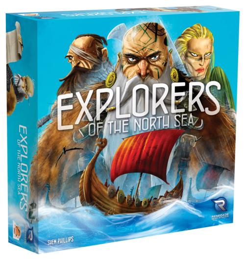 Brettspiel: Explorers of the North Sea + Erweiterung (Rocks of Ruin) (Englisch)