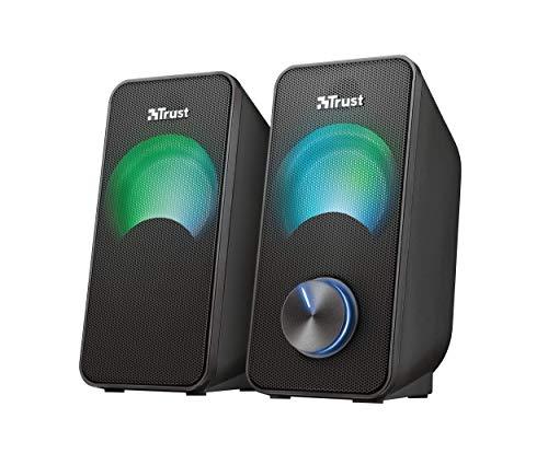 Trust Arys Compact 2.0 USB RGB Lautsprecher (12 Watt, mit RGB LED Beleuchtung) für 24,34€ (Amazon.es)