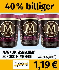 """440ml/330g Magnum Becher """"Raspberry & Dark Chocolate"""""""
