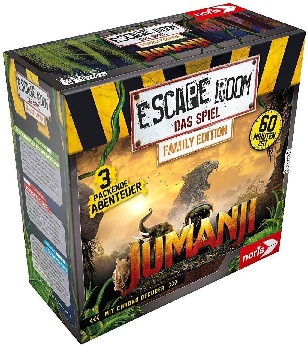 Noris - Escape Room Jumanji (Family Edition) - Familien und Gesellschaftsspiel für Erwachsene und Kinder [Mediamarkt & Amazon]