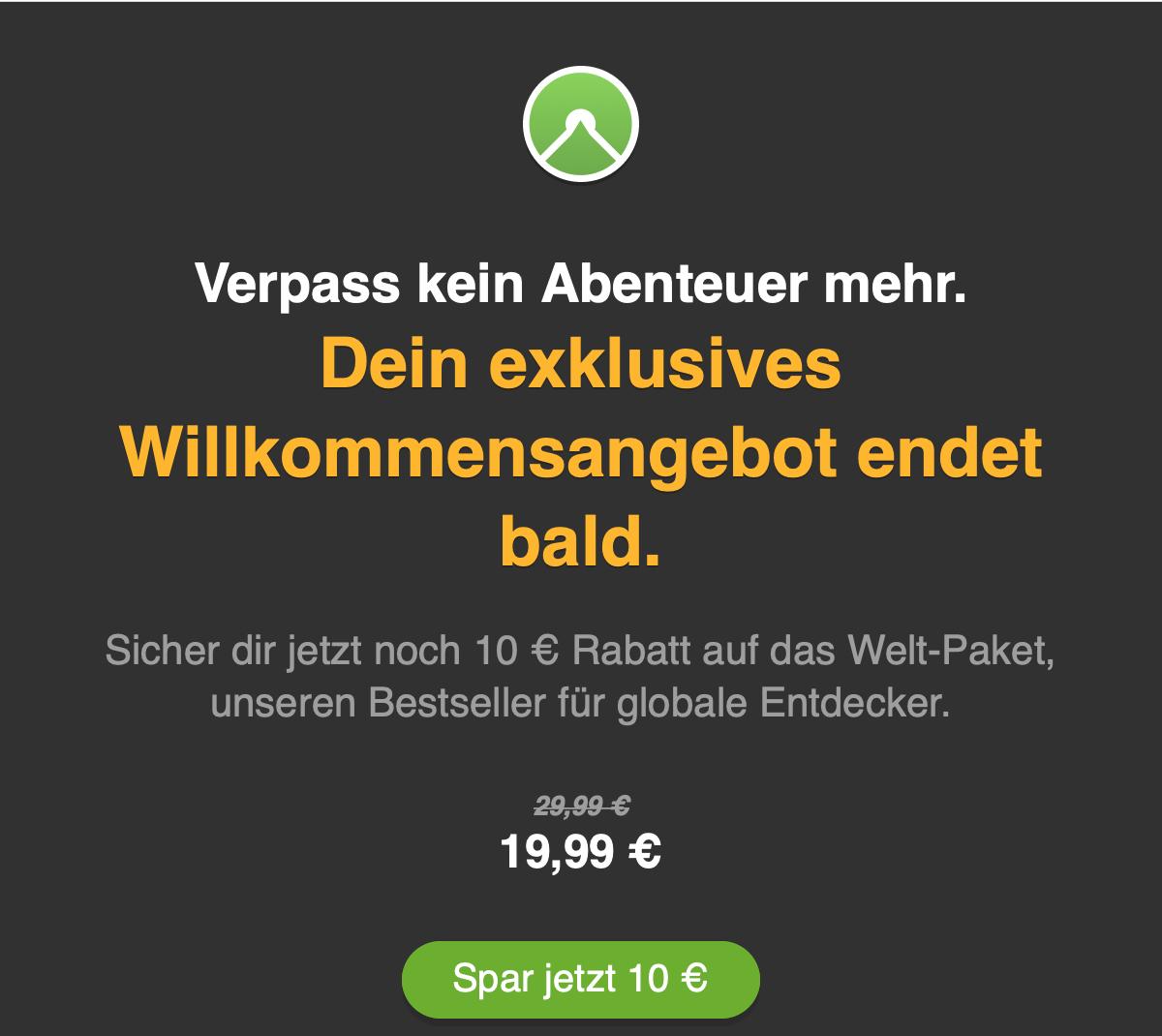Komoot Welt-Paket für 19,99€ statt 29,99€ (Komplett-Paket)