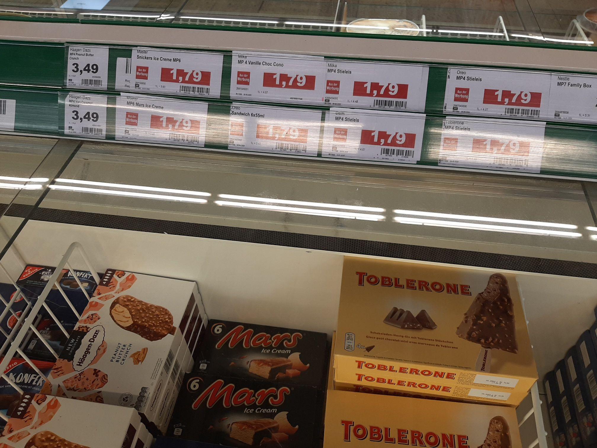 [Lokal] Marktkauf Bad Salzuflen - Snickers, Mars,Milke Eis für 1.79 Euro, statt 2,99 Euro