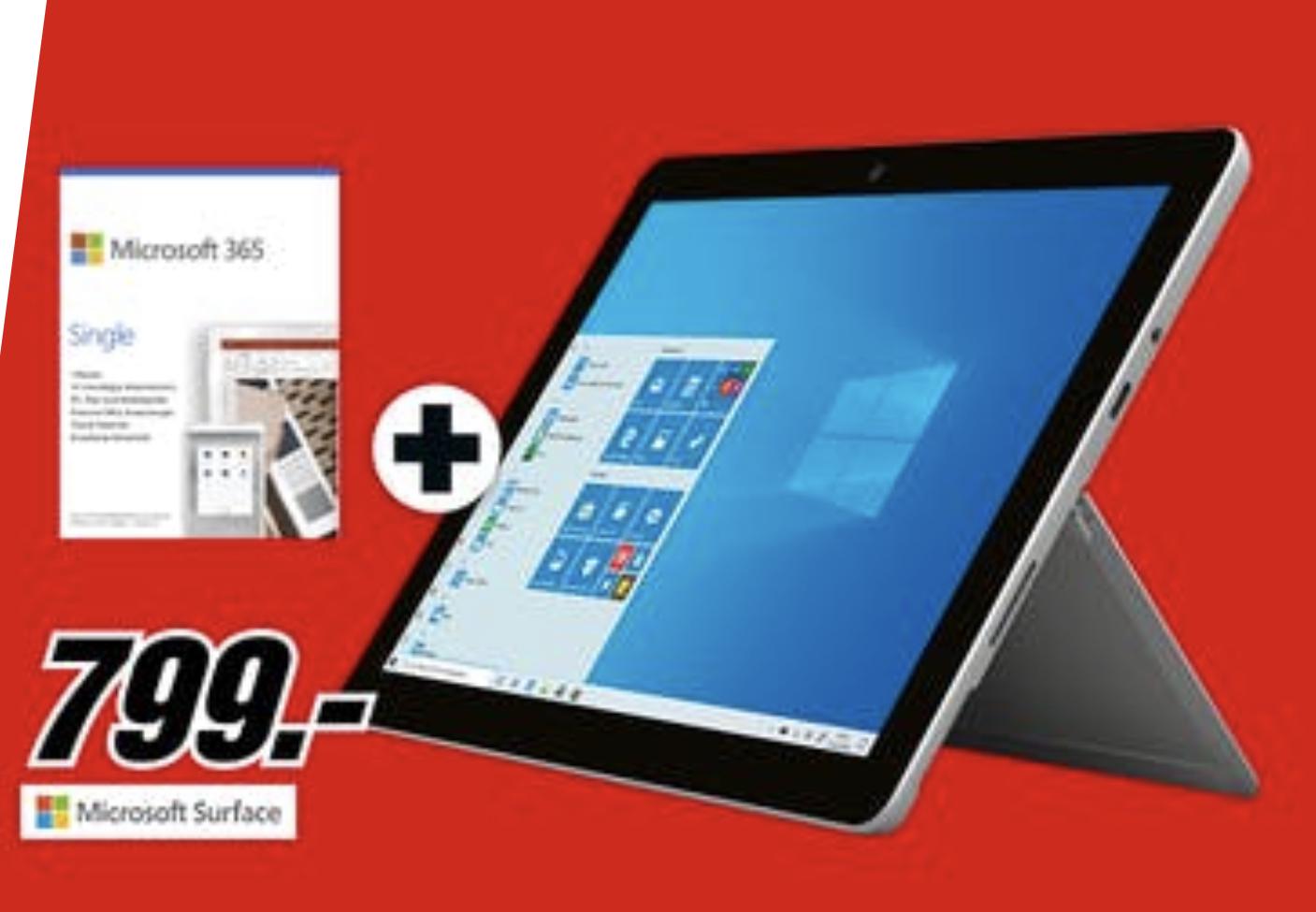 MICROSOFT Surface Pro 7 12,3 Zoll Core i5 8GB 128GB SSD Platinum + Microsoft 365 Single für 789€ / Amazon 799€