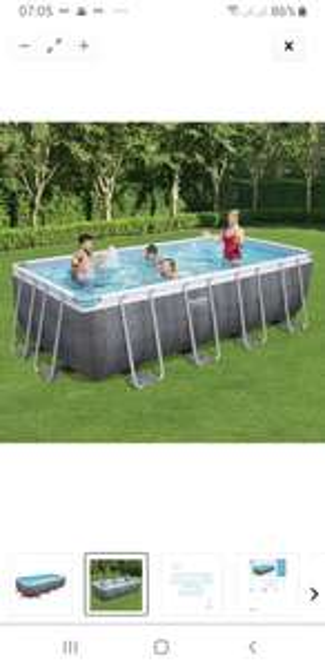 Bestway Pool 488x244x122, ohne Zubehör