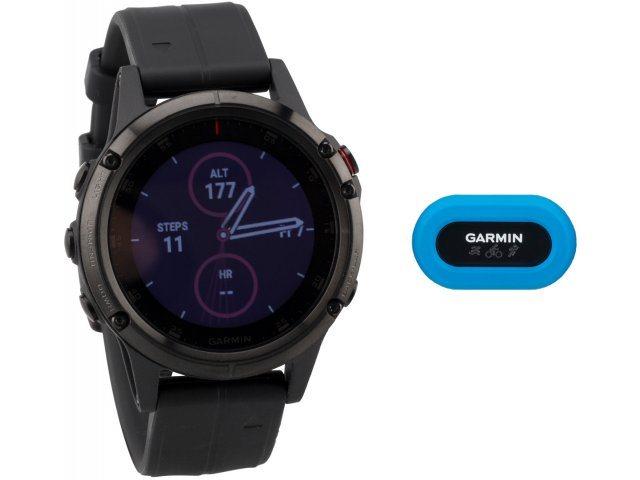 Garmin fenix 5 Plus Sapphire HRM Tri Bundle und Garmin fenix 5S Plus Sapphire HRM Tri Bundle