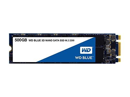 Western Digital WD Blue 3D NAND SATA SSD 500GB M.2 (3D-NAND TLC, 512MB Cache) WDS500G2B0B