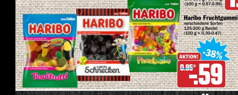 Haribo bei HIT für 0,59€ ab 22.06. (eventuell DB Bahn E-Coupon Packungen)