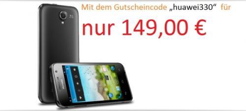 "Huawei Ascend G 330 schwarz [10,16cm (4"") Touchscreen, Android 4.0, 1,0 GHz Dual Core CPU"
