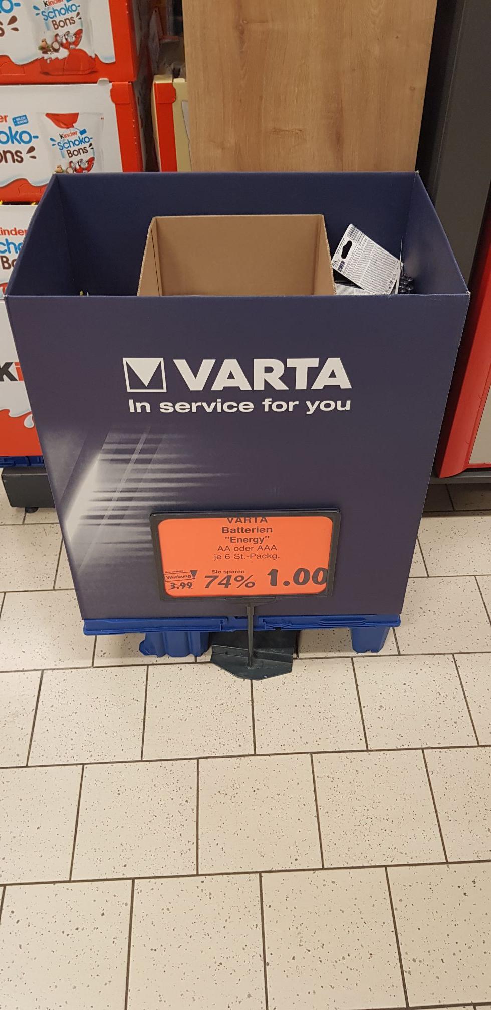 [Lokal Potsdam]VARTA AA- & AAA-Batterien 6er Packung