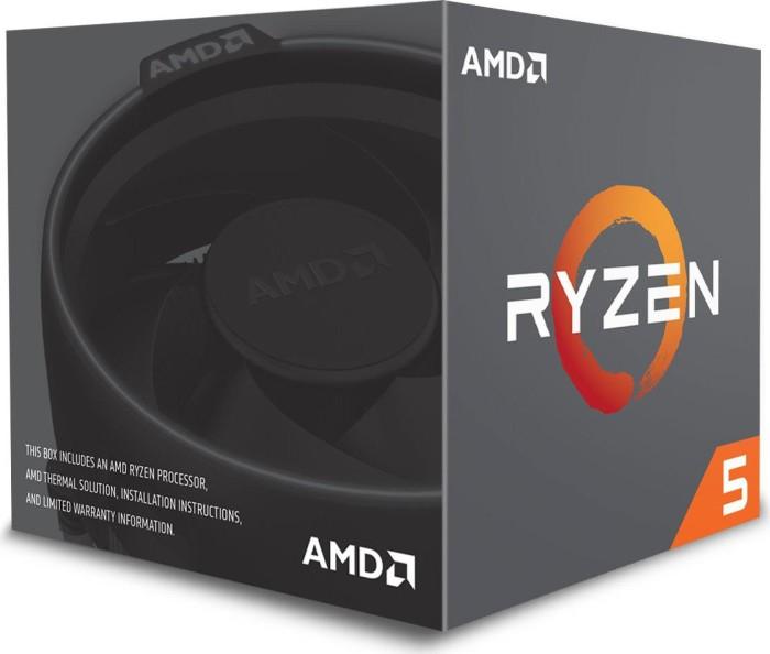 AMD Ryzen 5 2600 boxed (6 Kerne, 12 Threads, 3.4GHz Basis, 3.9GHz Boost, inkl. Wraith Stealth-Kühler, 3J Garantie) [+ 6,75€ RSP]