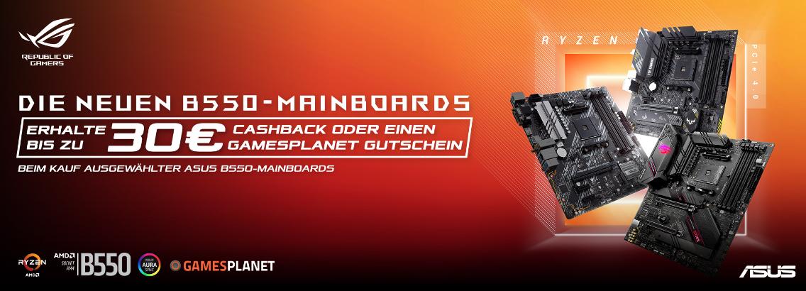 ASUS B550 Mainboards - bis zu 65€ Cashback möglich!