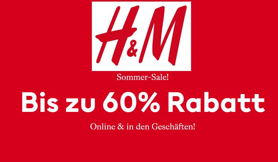 H&M Sommer Sale bis zu 60% reduziert