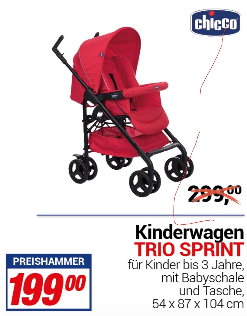 [ Centershop ] Chicco Kinderwagen Trio Sprint