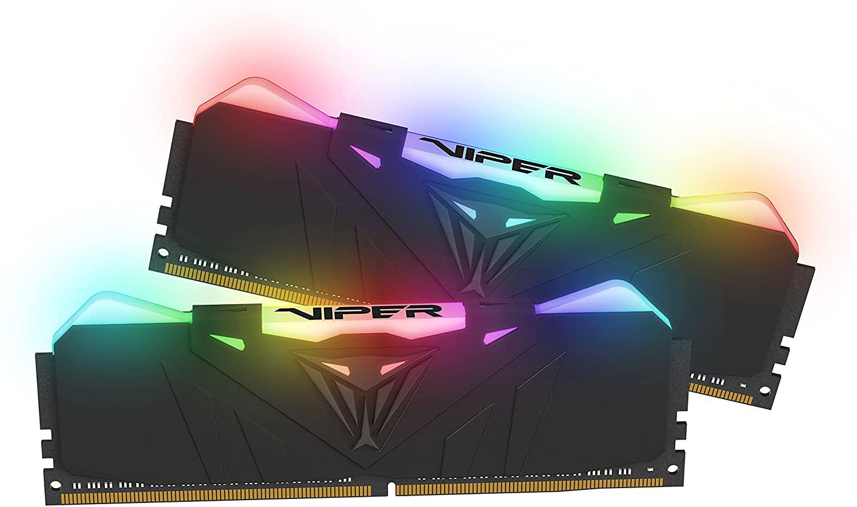 Patriot Viper RGB schwarz DIMM Kit 16GB, DDR4-3200, CL16-18-18-36 (PVR416G320C6K)