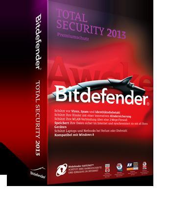 Bitdefender® Antivirus Plus oder Internet Security oder Total Security 2013 für 20,13€