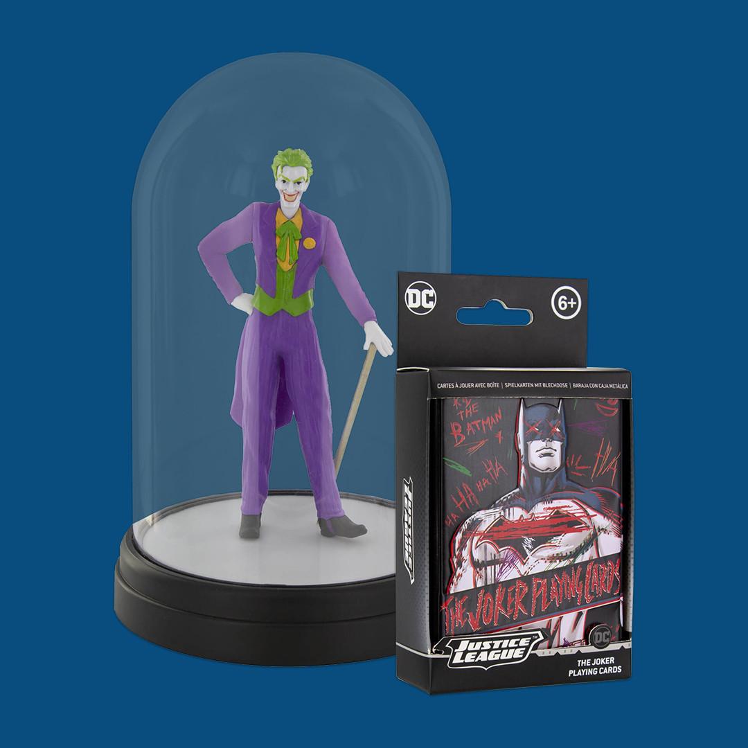 Joker Lampe und Spielkartenset für 22,99€, 2 Mystery Boxen für 27,99€ oder 2 DC Icon Lampen für 20€, jeweils plus 1,49€ Versand