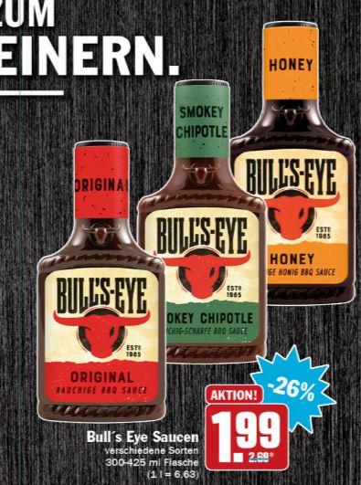 [Hit] 2x Bullseye Sauce verschiedene Sorten mit Coupon für 2,98€