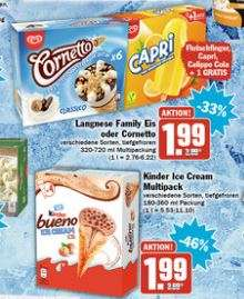 [HIT] 3x Langnese Family Eis, Cornetto, Kinder Ice Cream Multipack für 4,97€ mit Coupon