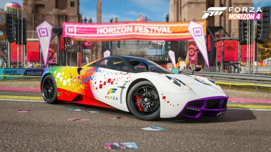 Gratis Pagani Huayra in der Forza Rainbow Edition für Forza Horizon 4 und Forza Motorsport 7
