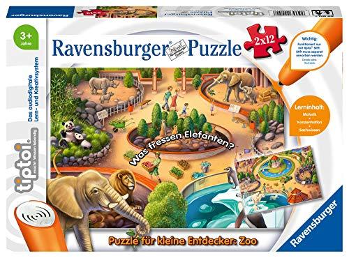 [Amazon Prime] Ravensburger TipToi ZOO Kinderpuzzle, 2 x 12 Teile