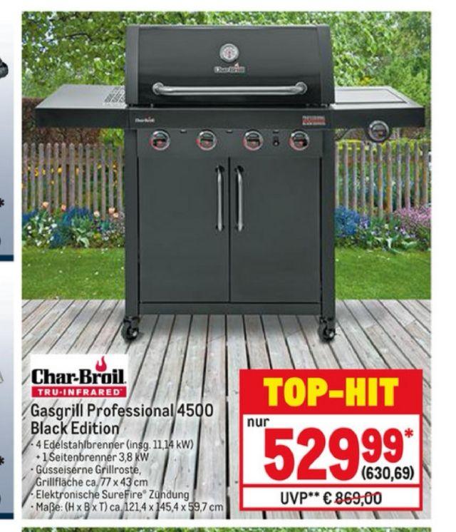 Metro - Gasgrill - Char Broil Professional 4500 Black Edition