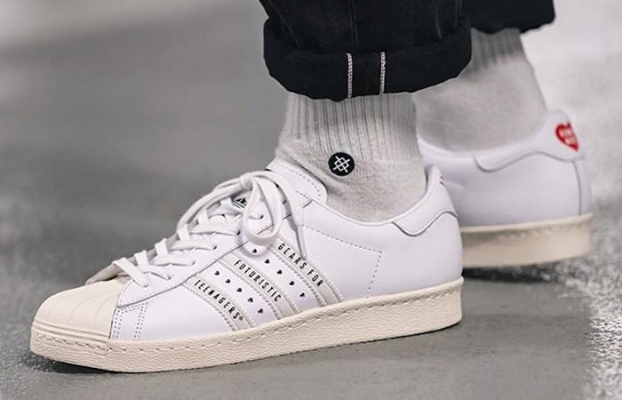 """40% Rabatt auf alle adidas Superstar Modelle bei AFEW, z.B. 80S Human Made Made """"WHITE"""""""