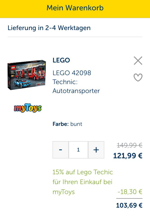 Lego Technic Auto Transporter 42098 oder Lkw Kran 42108