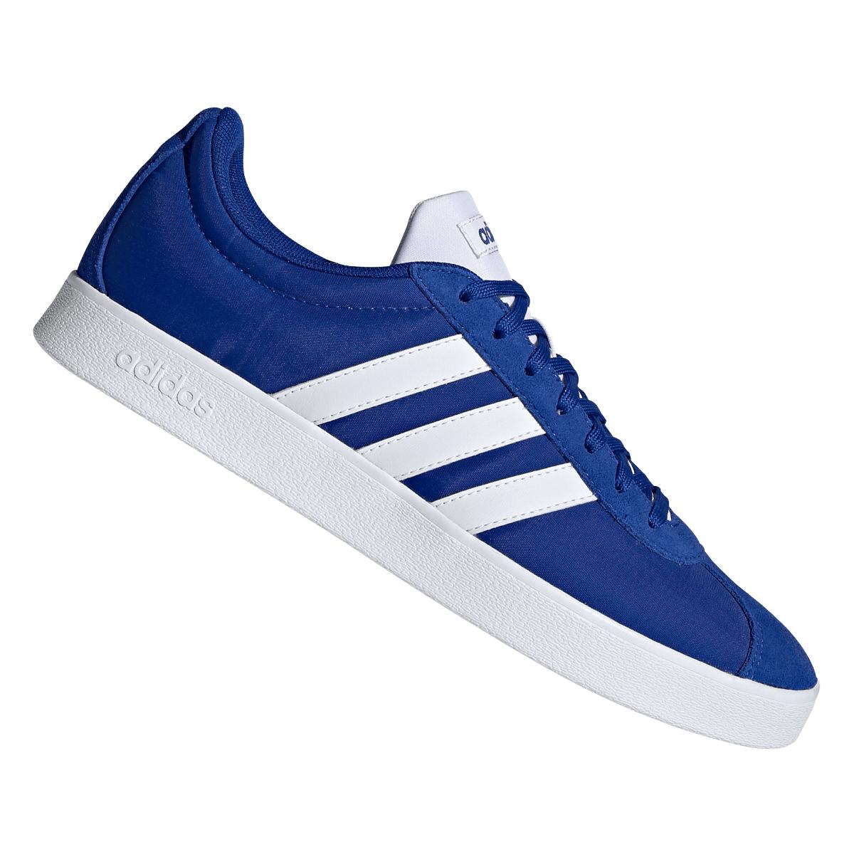 adidas Freizeitschuh VL Court 2.0 blau/weiß (Gr. 41-47)