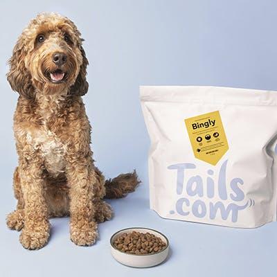 Hundefutter (Trockenfutter) von tails.com einen Monat testen und nur 2€ Versandkosten zahlen