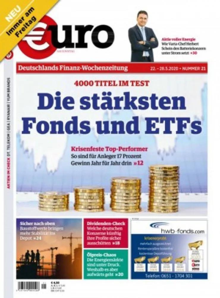 Euro Finanzen Abo (12 Print) für 101,80 € mit 100 € BestChoice-Gutschein/ 105 € Otto-Gutschein (Kein Werber nötig)