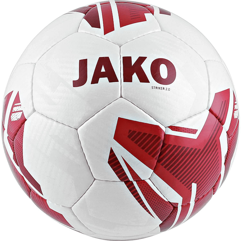 10er Pack: Kinderfußball Jako Lightball Striker 2.0 HS in weiß/rot-350g Gr. 5 für 40,94€