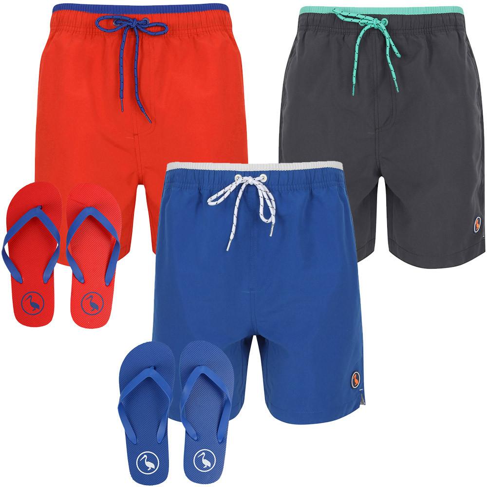 [Tokyo Laundry] Herren Badeshorts + passende Flip Flops (Gr. S - XXL) in drei verschiedenen Farben für 13,27€
