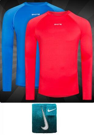 """Skins Herren Langarm-Funktionsshirt """"DNAmic Force"""" für 8.88, Nike Schweißband für 0.55€ (Für Sparclubmitglieder) + 3.95€ VSK [SportSpar]"""