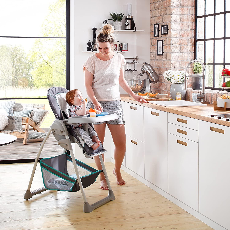 Hauck Sit'n Relax: Neugeborenen Aufsatz und Kinderhochstuhl ab Geburt, Liegefunktion, Tisch, höhenverstellbar, mitwachsend, klappbar