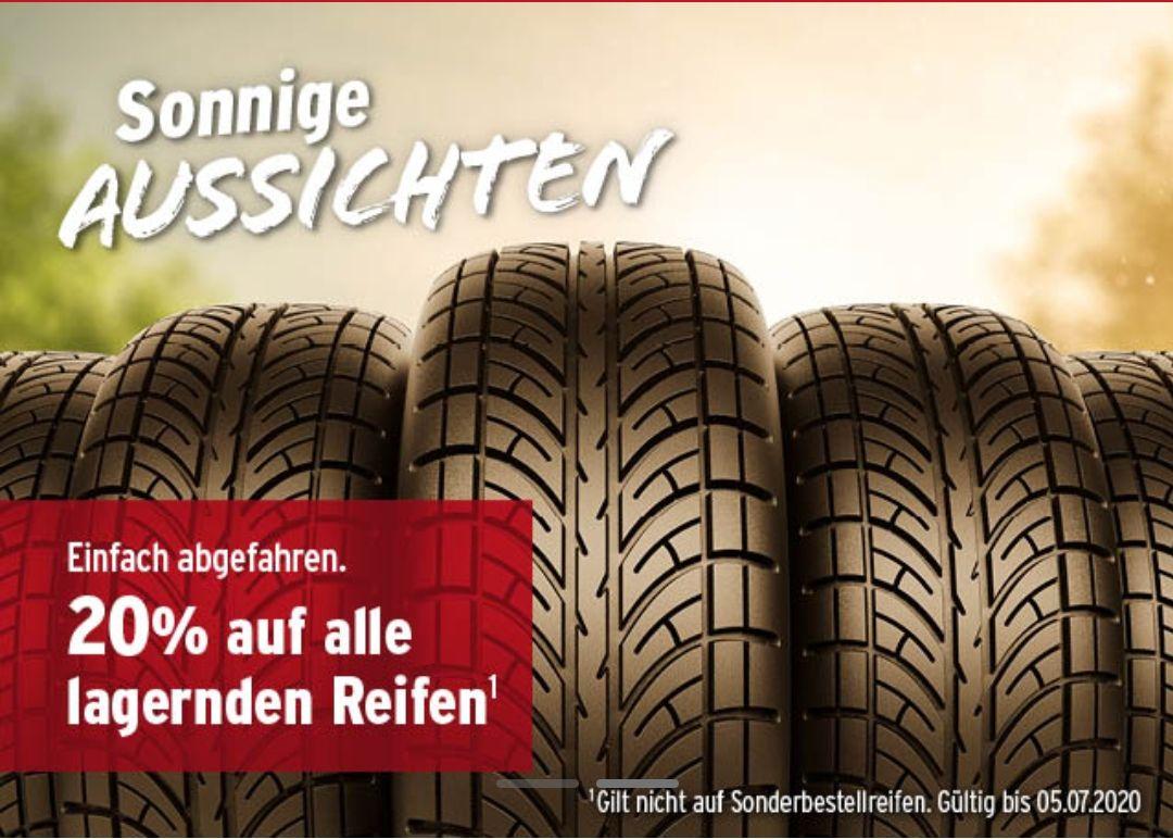 ATU 20% auf alle lagernden Reifen!