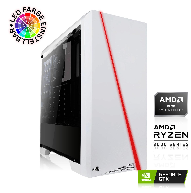 Full HD Gaming PC (Ryzen 3 3300X, 16GB DDR4-3000, 480GB SSD, GTX 1660 SUPER 6GB, be quiet! SP B9 600W, MSI B450M Pro-VDH Max)