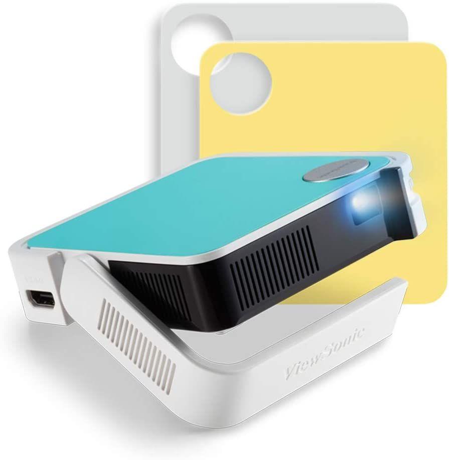 Viewsonic M1 mini Portabler LED Beamer (WVGA, 120 Lumen, HDMI, Micro USB, USB, 2 Watt Lautsprecher) multicolor [Amazon Blitzangebot]