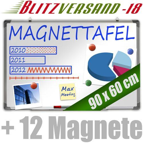 Jago Whiteboard 60x90 cm + 12 Magnete für nur 17,95 EUR inkl. Versand!