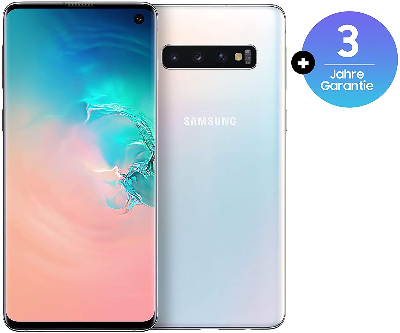[Amazon] Samsung Galaxy S10, 128 GB interner Speicher, 8 GB RAM, Dual SIM, Android, prism white, inkl. 36 Monate Herstellergarantie
