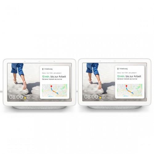 2 Stück Google Nest Hub Smart Display mit Sprachsteuerung kreide o. carbon für zusammen 119€ inkl. Versandkosten