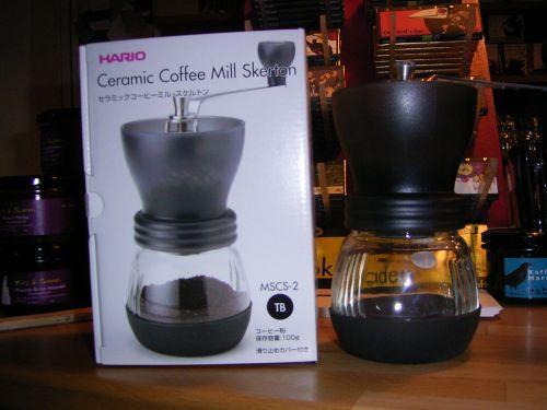 Hand-Kaffeemühle Skerton von Hario + 750g hochwertige Espressobohnen