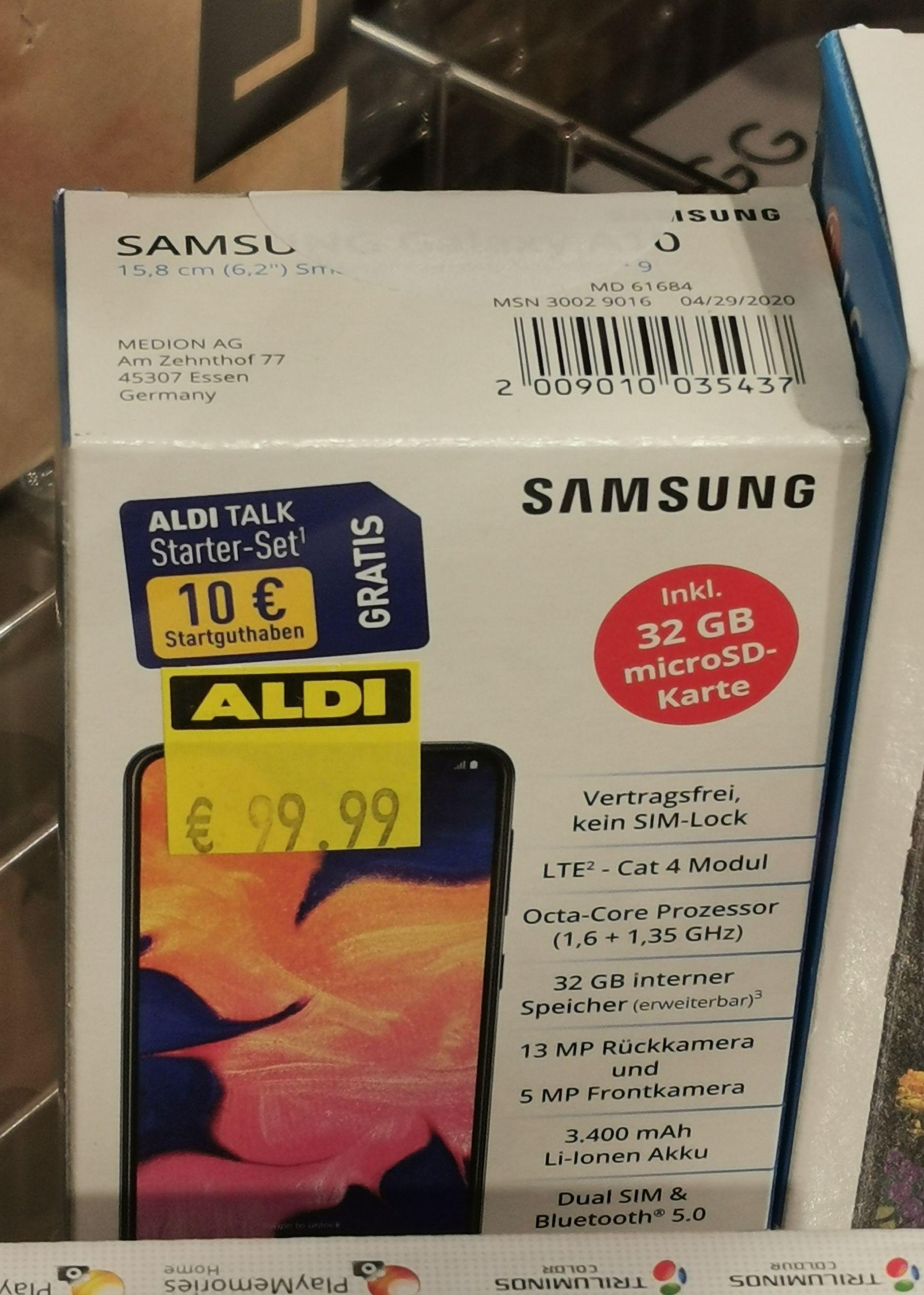 Lokal/Bestpreis Samsung Galaxy A10 im Aldi Hamburg Groß Flottbek + 10 €Alditalk Guthaben