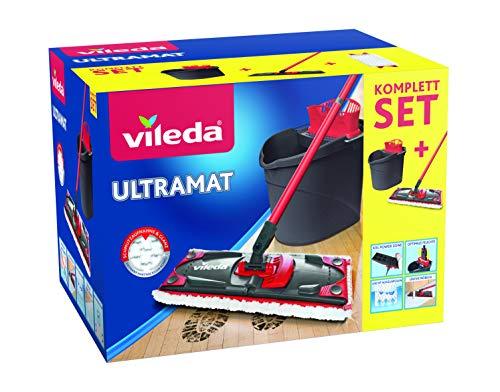Vileda UltraMat Komplett Set 3D-Microfaserbezug und Eimer mit PowerPresse für 19,99€ (Amazon Prime)