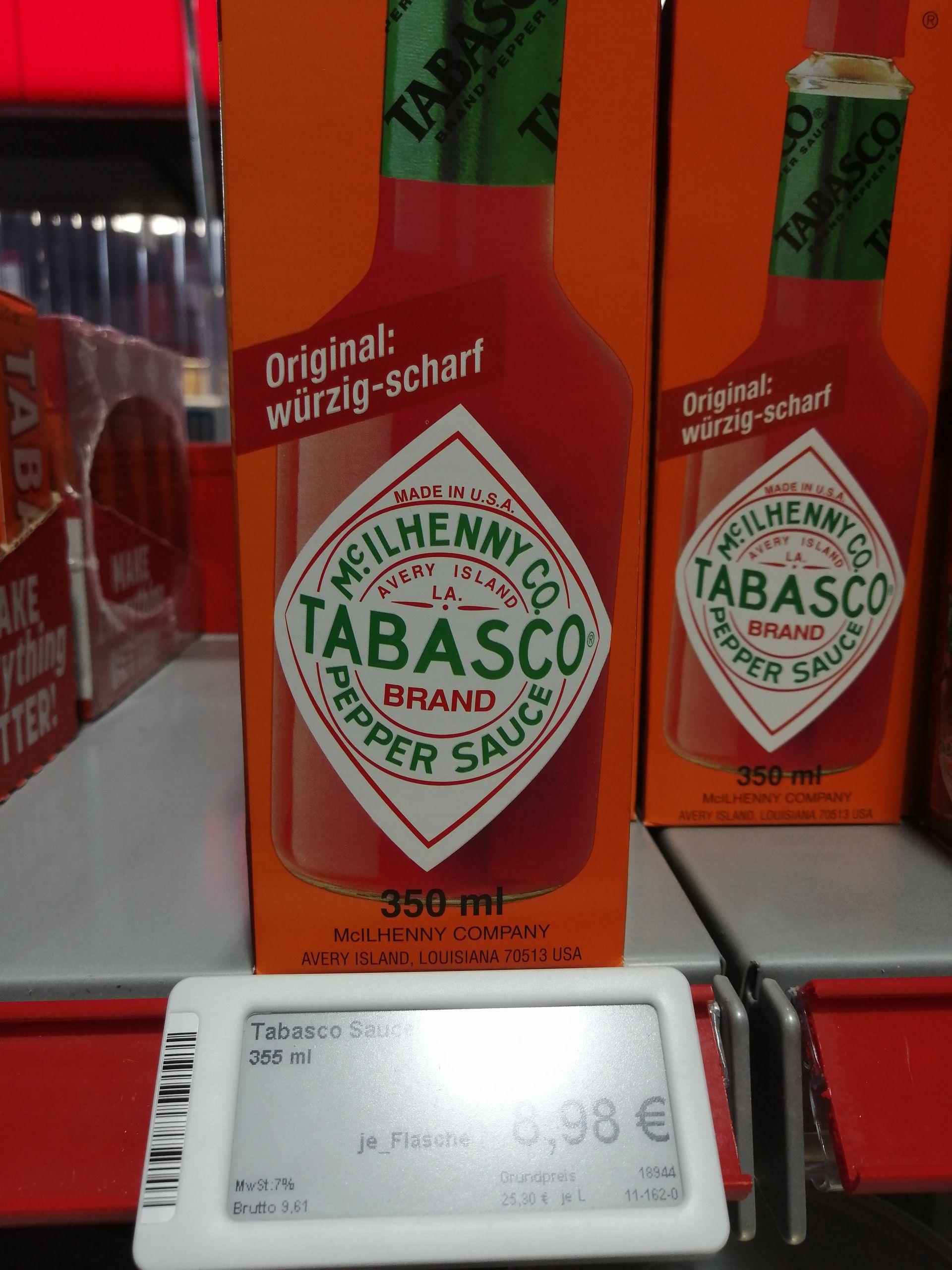 [Lokal Nürnberg] Tabasco Red Pepper Sauce Original 350ml Flasche - GVS Lebensmittelladen