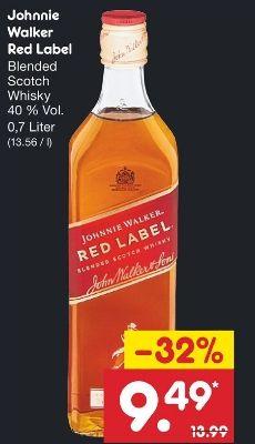 [Netto MD] Johnnie Walker Red Label 0.7l / 20% Rabatt + 5-fach DeutschlandCard Punkte zusätzlich möglich