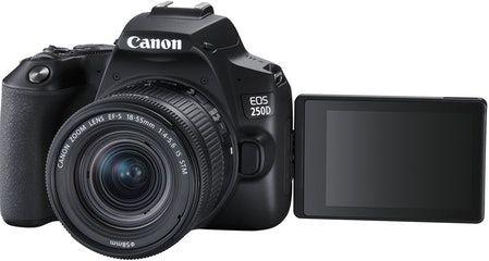 Canon EOS 250D Spiegelreflexkamera zum Bestpreis! (24.1 Megapixel, 4K, Full HD, 18-55 mm Objektiv (IS, STM), Touchscreen, WLAN)