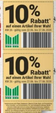 [Marktkauf Minden-Hannover] 2x 10% Rabatt Gutscheine im Prospekt